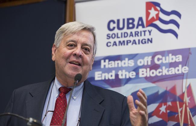 Carlos Alzugaray, profesor, investigador y ex-diplomático cubano.Foto: Rod Leon / Cuban Futures Conference en Londres.