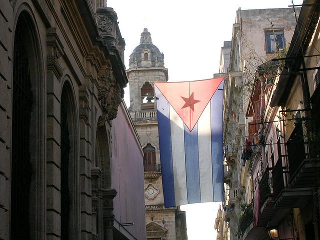 La bandera cubana, uno de los símbolos de la nación cubana