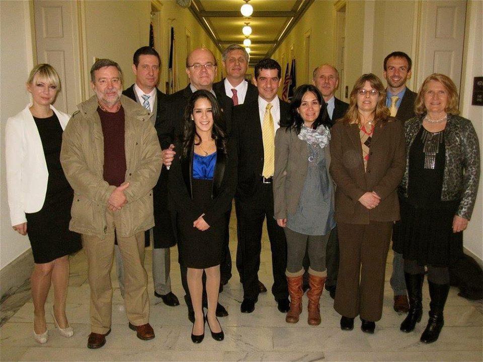 Delegación de CAFE durante una visita al Congreso de los Estados Unidos.