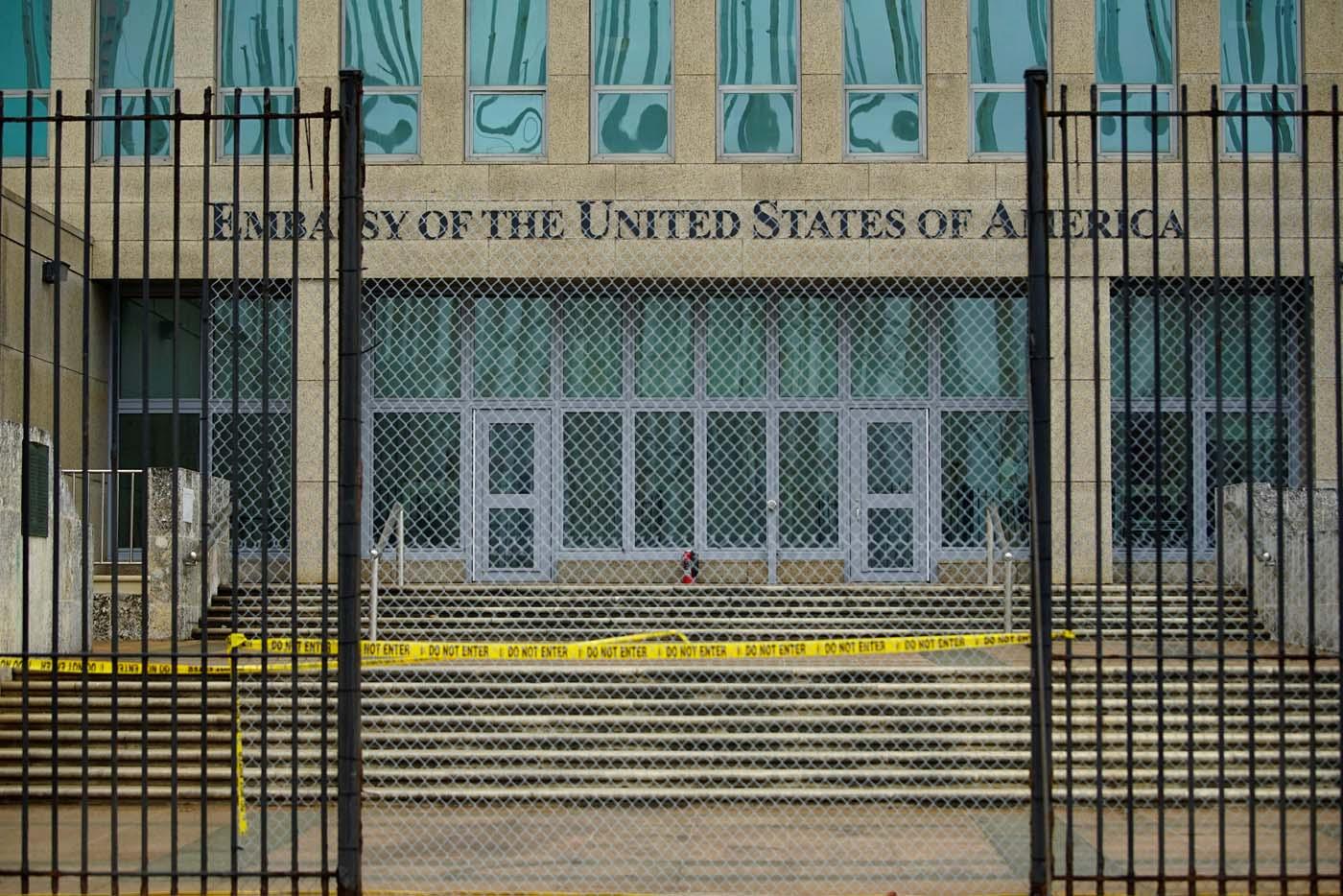 La embajada de EEUU en Cuba (Foto REUTERS/Alexandre Meneghini)